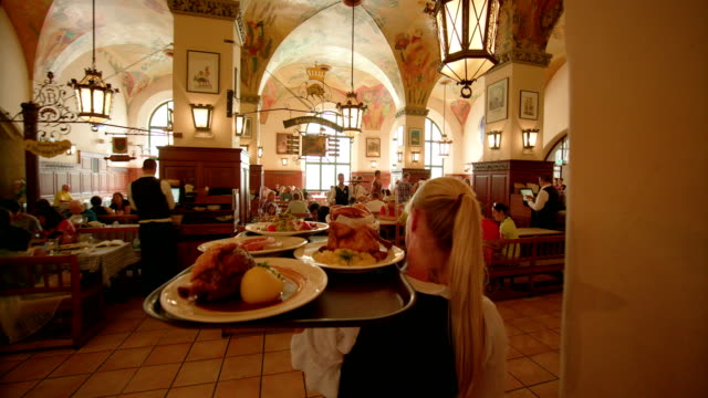 hofbrauhaus, munich - baviera video stock e b–roll