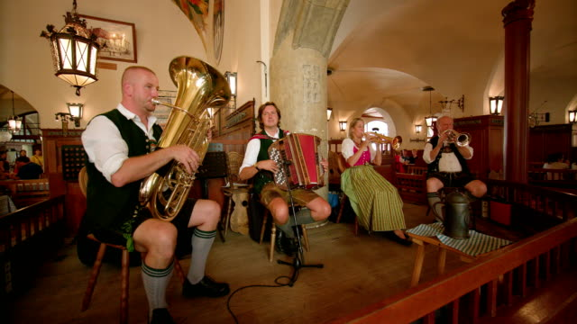 hofbrauhaus, munich - marching band stock videos & royalty-free footage