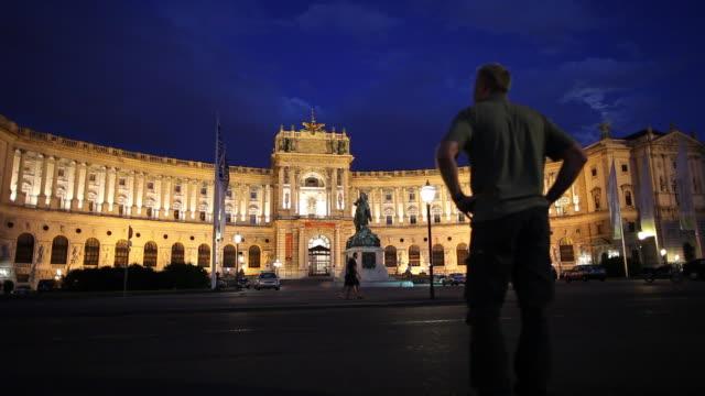 ws hofburg palace at night / vienna, austria - the hofburg complex stock videos & royalty-free footage