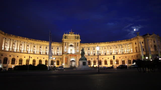 ws hofburg palace at night / vienna, austria - austrian culture stock videos & royalty-free footage