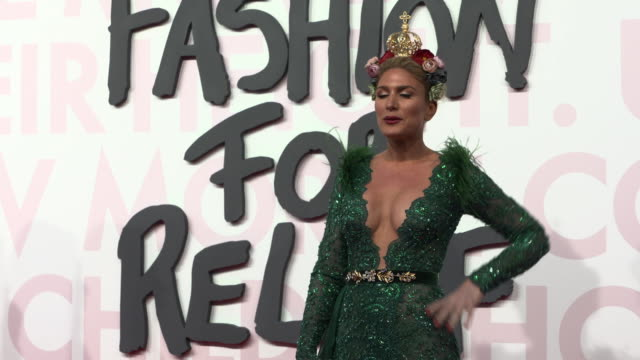 hofit golan at fashion for relief fashion catwalk - the 71st cannes fillm festival at aeroport cannes mandelieu on may 13, 2018 in cannes, france. - カンヌ・マンデリュー空港点の映像素材/bロール