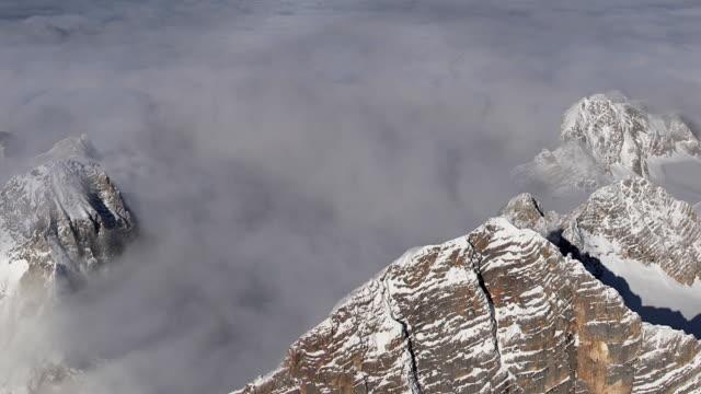 aerial ws hohe dachstein peak / austria - dachstein mountains stock videos and b-roll footage