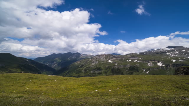 hohe tauern range with clouds in motion - carinthia stock videos & royalty-free footage