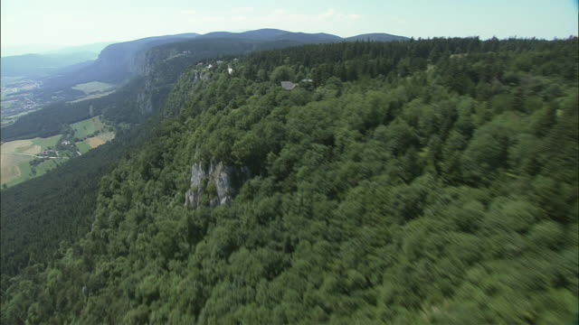 aerial hohe wand nature park, lower austria, austria - lower austria stock-videos und b-roll-filmmaterial
