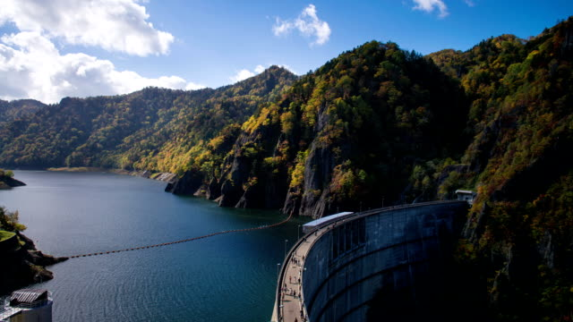 hoheikyo dam - arch architectural feature stock videos and b-roll footage