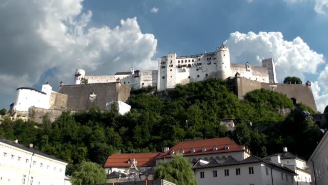 hohensalzburg fortress - salzburg, austria - traditionally austrian stock videos & royalty-free footage