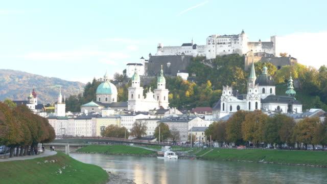 hohensalzburg fortress salzburg austria - traditionally austrian stock videos & royalty-free footage