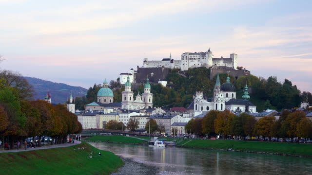 hohensalzburg fortress salzburg austria - musical theater stock videos and b-roll footage