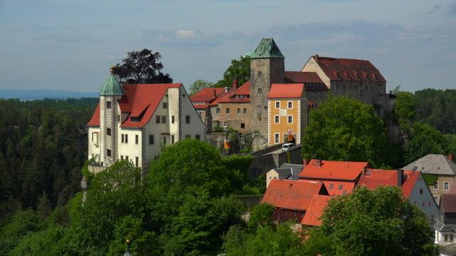 hohnstein castle, hohnstein, saxon switzerland, saxony, germany - sachsen stock-videos und b-roll-filmmaterial