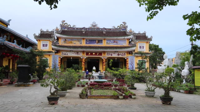 Hoi An, view of Quang Trieu temple in the historic city