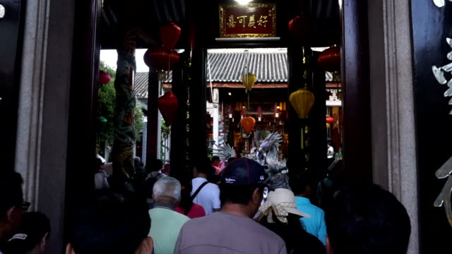 hoi quan quang trieu temple ( cantonese assembly hall ) - traditionally vietnamese stock videos & royalty-free footage