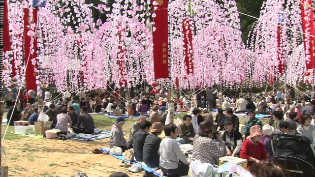 hoinobori (flower streamers)/minami-san-no festival / shiga prefecture - shiga prefecture stock videos & royalty-free footage