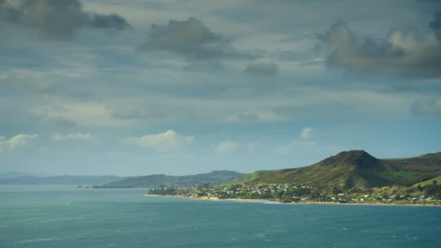 vidéos et rushes de hokianga harbour de arai te uru lookout - time lapse - région du northland