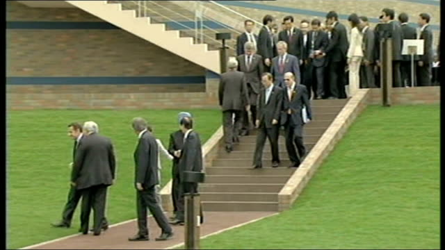 hokkaido: tokayo: delegates at g8 summit including nicolas sarkozy and george w bush - president of france stock videos & royalty-free footage