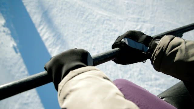 hold on tight - ski pole stock videos & royalty-free footage