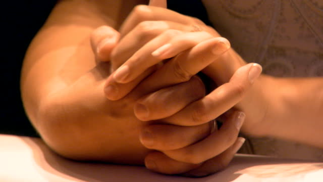 holding hands during prayer - pastor stock videos & royalty-free footage