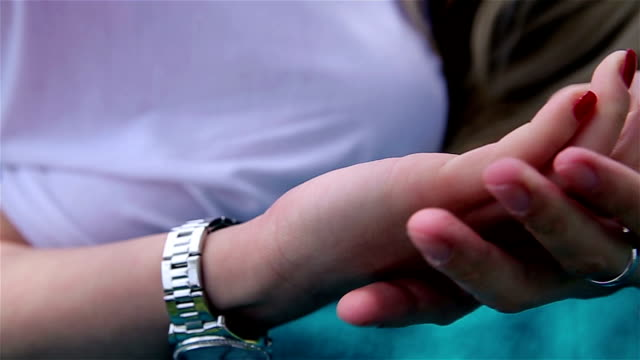 holding hands - gymnastic rings stock videos & royalty-free footage