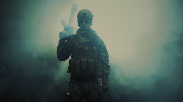 holding my assault rifle. - army soldier stock videos & royalty-free footage