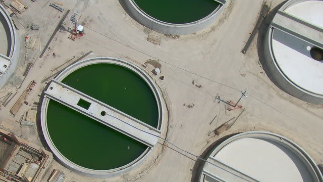holding tanks at atotonilco wastewater treatment plant in tepoztlan, mexico. - tepoztlan mountains stock videos and b-roll footage