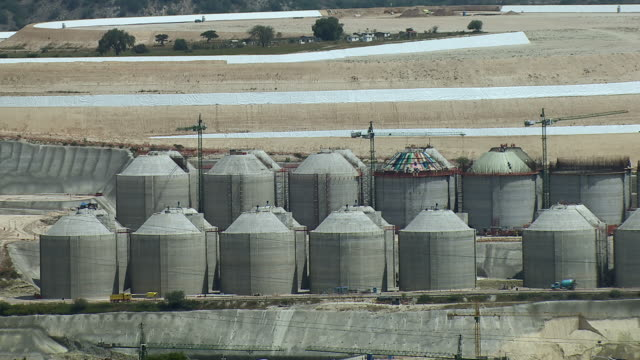 holding tanks at the atotonilco wastewater plant in mexico. - tepoztlan mountains stock videos and b-roll footage