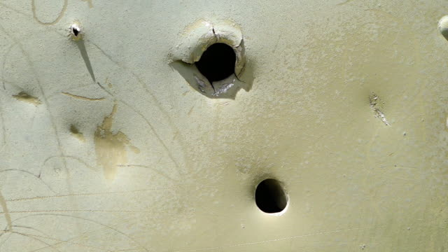 holes torn in a metal piece - imperfection stock videos & royalty-free footage