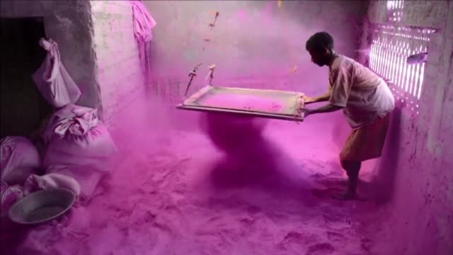 stockvideo's en b-roll-footage met holi the popular hindu spring festival colours observed in india at the end of the winter season on the last full moon of the lunar month will be... - holi phagwa