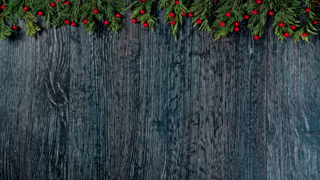 holiday background with fir branches, loopable - stop motion animation stock videos & royalty-free footage