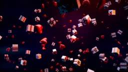 Holiday, Birthday, Christmas gift boxs background - Stock video
