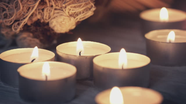 holiday candles - spa treatment stock videos & royalty-free footage