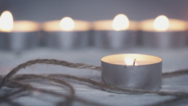 holiday candles - tea light stock videos and b-roll footage