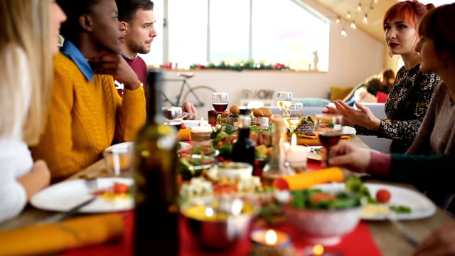 holiday dinner - thanksgiving stock videos & royalty-free footage