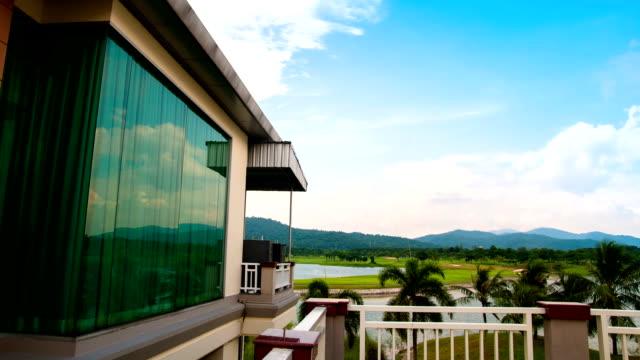 holiday goft villa time lapse. - villa stock videos & royalty-free footage