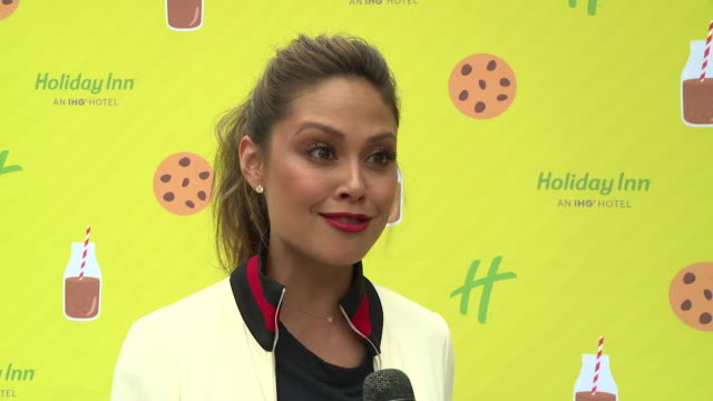 CHYRON Holiday Inn And Vanessa Lachey Bring Oversized Hotel Room To Millennium Park For Chocolate Milk Happy Hour at Millenium Park on June 26 2018...