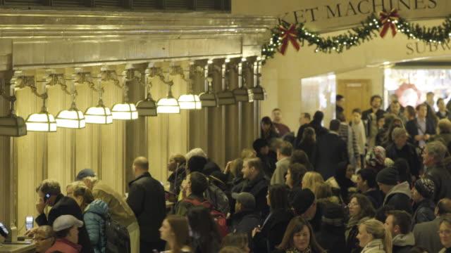 holiday ticket counter - fahrkartenschalter stock-videos und b-roll-filmmaterial