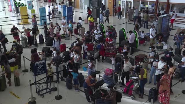 """holidays are ruined"""" for tourists on the island of martinique after a strict lockdown is enforced on the french overseas territory following a surge... - french overseas territory stock videos & royalty-free footage"""