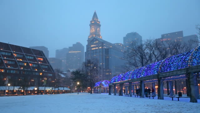 holidays in boston - new england usa stock videos & royalty-free footage