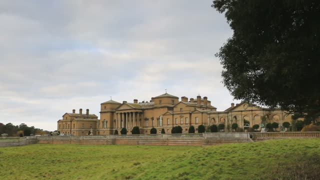 Holkham Hall, an early 18thC Palladian country house in Holkham village, Norfolk, England