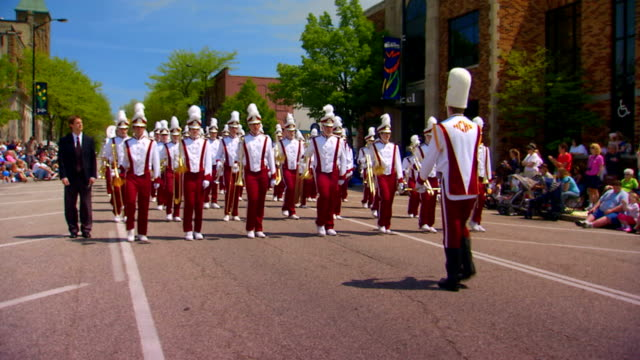 holland christian marching band - marching band stock videos & royalty-free footage