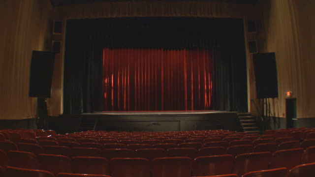 holland, michiganempty theater - stage performance space stock videos & royalty-free footage