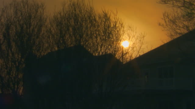 holland, michiganhouse through trees at sunset - human limb stock videos & royalty-free footage