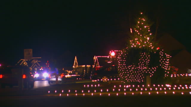Holland, MichiganNeighborhood decorated with Christmas lights