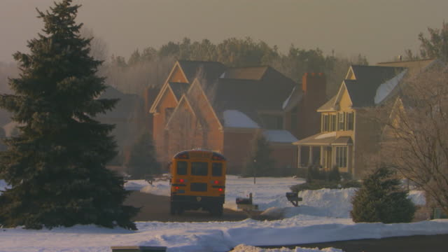 holland, michiganneighborhood in winter - michigan stock videos and b-roll footage
