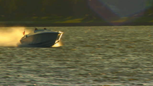 holland, michiganpower boat speeding by camera - power boat stock videos & royalty-free footage