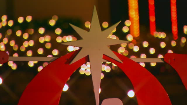 holland, michiganwooden cut out of the word joy with nativity scene in the o - star of david stock videos and b-roll footage