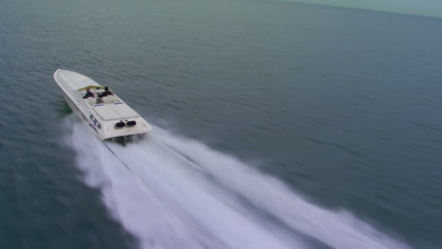holland, miflying alongside a power boat - power boat stock videos & royalty-free footage