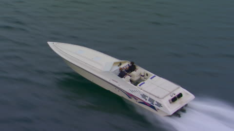 holland, miflying alongside a power boat - speed boat stock videos & royalty-free footage