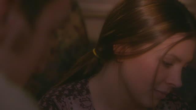 holland, mismiling woman - 後ろで束ねた髪点の映像素材/bロール