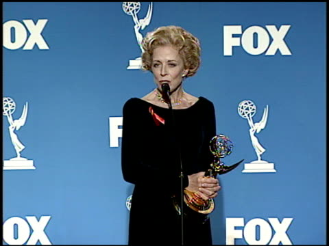 Holland Taylor at the 1999 Emmy Awards Press Room at the Shrine Auditorium in Los Angeles California on September 12 1999