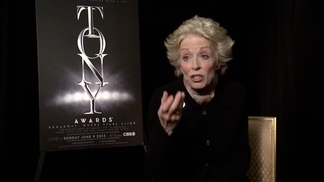 INTERVIEW Holland Taylor on how rewarding it feels to be nominated for Ann at 2013 Tony Awards Meet The Nominees Press Reception at Millenium Hotel...