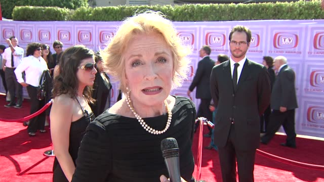 Holland Taylor on the award Two and a Half Men is receiving and on how it feels to be honored and on her favorite classic television shows at the...